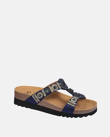 Tmavomodré papuče Scholl