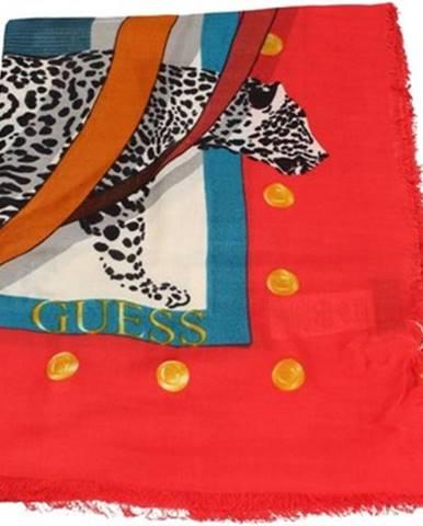 Červená šatka Guess