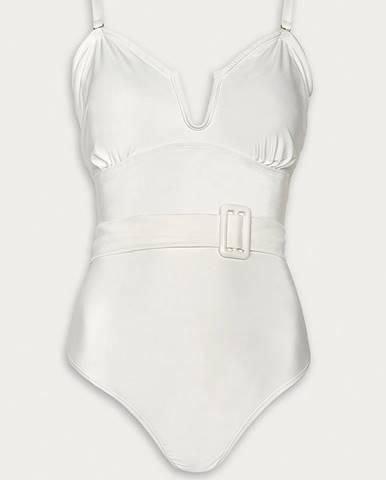 Biele jednodielne plavky Vero Moda