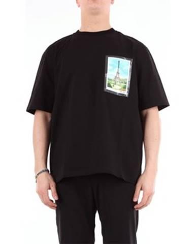 Čierne tričko Ami Alexandre Matiussi