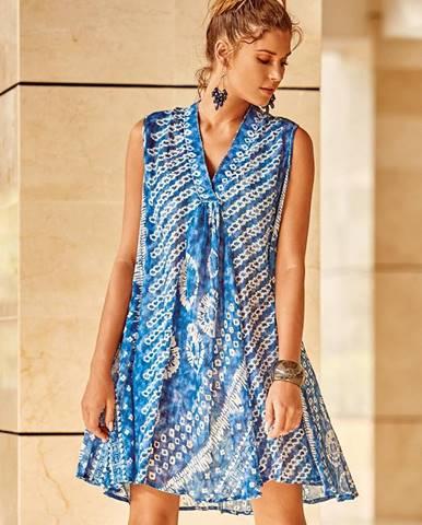 Modré šaty David Beachwear