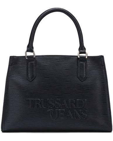 Čierna kabelka Trussardi Jeans