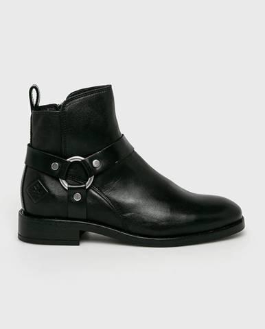 Čierne čižmy Gant
