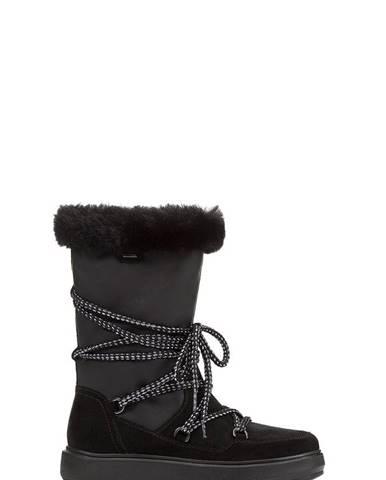 Čierne zimná obuv Geox