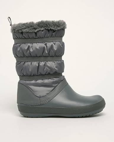 Sivé zimná obuv Crocs