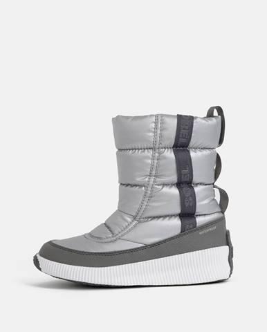 Strieborné zimná obuv Sorel