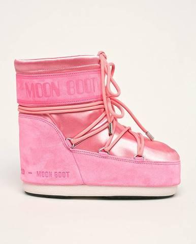 Ružové zimná obuv Moon Boot