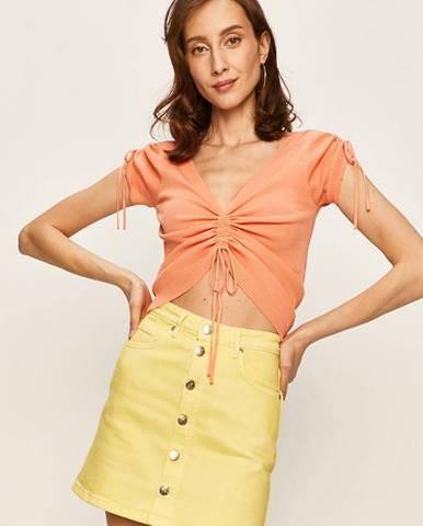 Oranžové tričko Pepe jeans