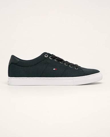 Tmavomodré topánky Tommy Hilfiger