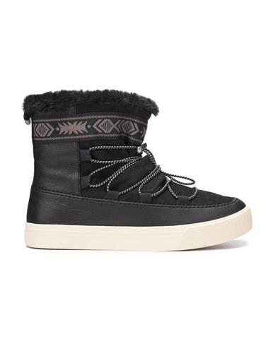 Čierne zimná obuv TOMS