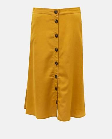 Horčicová sukňa Only