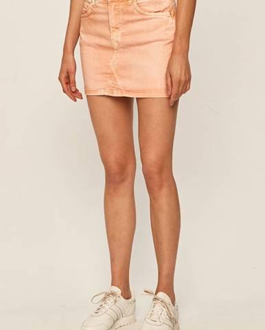 Oranžová sukňa Pepe jeans